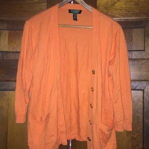 Orange Ralph Lauren Cardigan